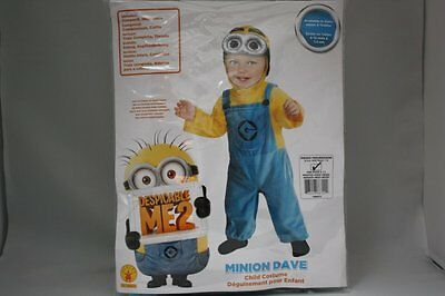 DESPICABLE ME 2 MINION DAVE CHILD HALLOWEEN COSTUME BOYS INFANT BABY 6-12 MTHS - Despicable Me Minion Baby Halloween Costume