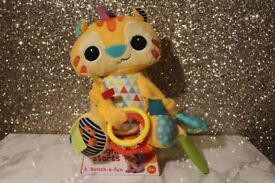 *BRAND NEW* Bright Starts Bunch-O-Fun Rattle Teether Tiger Plush Toy