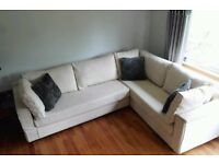 Gorgeous Large Cream Corner Sofa Very Comfortable Keeps it's shape. Washable Covers