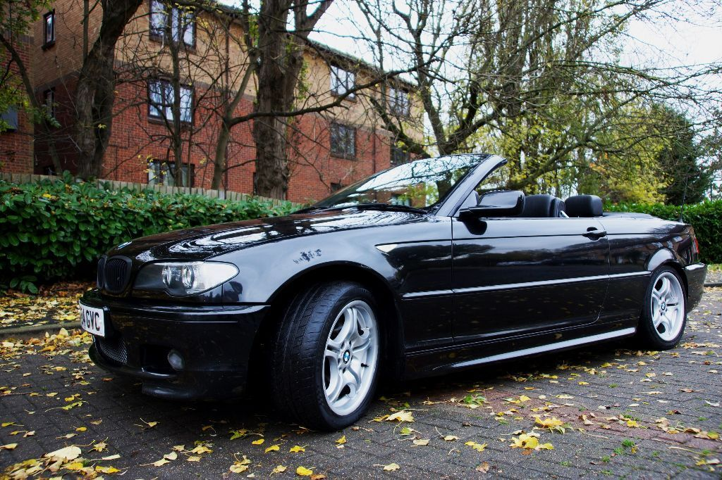 bmw 3 series 318ci 2 0 m sport convertible black facelift 2004 e46 e60 330d in chingford. Black Bedroom Furniture Sets. Home Design Ideas