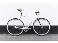 Racing bicycle genesis single speed freewheel rear brakes new parts
