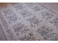 Large Chinese wool rug , cream colour 100% wool 270 x 180 cms 9 ft x 6 ft approx