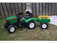 Kids Pedal Falk Country ride on Tractor & Detatchable trailer