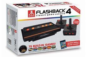 Atari Flashback 4 channels 2600 nostalgia with a 75 game bundle PRR £60
