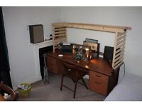 Office Study Desk - Old but very good quality - Can deliver