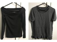 Black Shirt&Dark Grey T-Shirt/ Size 6