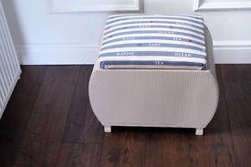 Upholstered footstool / storage/ seat