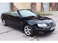 2005 SAAB 9-3 VECTOR CONVERTIBLE 1.8T, PETROL, MOT, FULL LEATHER INTERIOR, DRIVES, SPARES OR REPAIRS