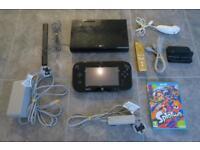 Nintendo Wii U 32GB Black + Splatoon + Limited Edition Legend of Zelda Wii Motion Plus Remote Bundle