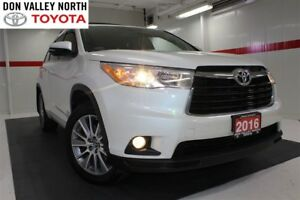 2016 Toyota Highlander XLE AWD Sunroof Nav Btooth Heated Lther B