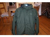 Small/Medium Craghoppers Goretex Dark Green 3-in-1 Kiwi Coat Jacket with fleece inner. Sells at £99+
