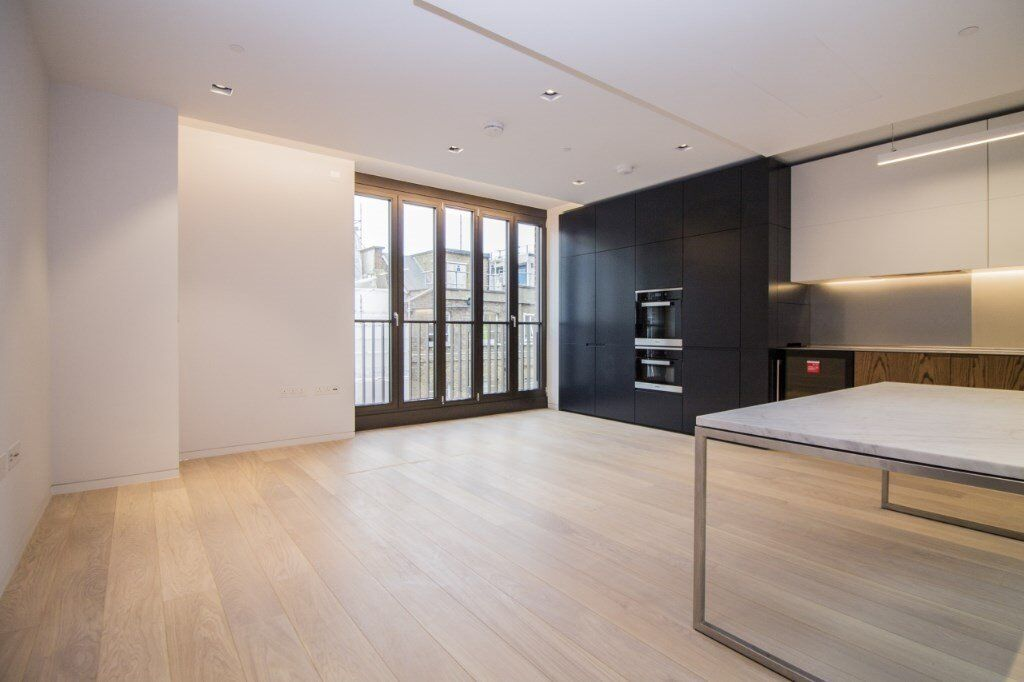 A modern two bedroom apartment, boasting a large