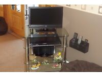 Hygena Matrix Glass TV Hifi Unit