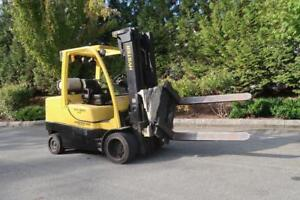 HYSTER 100 Forklift With Rotating Forks