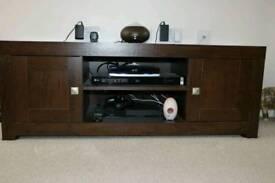 Tv cabinet in walnut brown