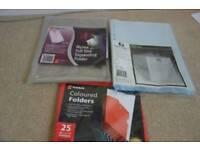 Plastic folders and pockets