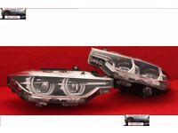 Left hand drive Bixenon LCI headlights BMW F30 F31 2015 - onwards LHD COMPLETE MOT TUV APK