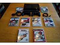 PRICE REDUCED: 12GB PS3, Power lead ,charger, two controllers and 8 games