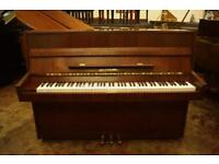 Compact upright piano in mahogany. Tuned and uk delivery available