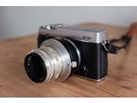 Fujifilm X-E1 Mirrorless Digital Camera + Extras