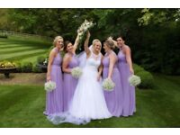 Dessy bridesmaid dresses, lilac, worn once so good condition.