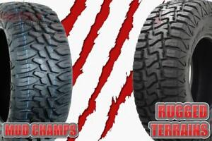 $60 TO SHIP 4 TIRES !!! MUD CHAMPS AND RUGGED TERRAINS ~~~ LOWEST PRICES GUARANTEED