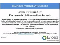 Research Participants needed in Edinburgh for Paid Study