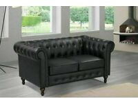 🔵💖🔴bargain furniture🔵💖🔴CHESTERFIELD PU LEATHER SOFA 2 SEATER-CASH ON DELIVERY🔵💖🔴
