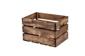 Wooden boxes for shelving