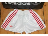 Wholesale 10 pairs Adidas Ventex 70's Vintage shiny running shorts brand new in bags,sizes small