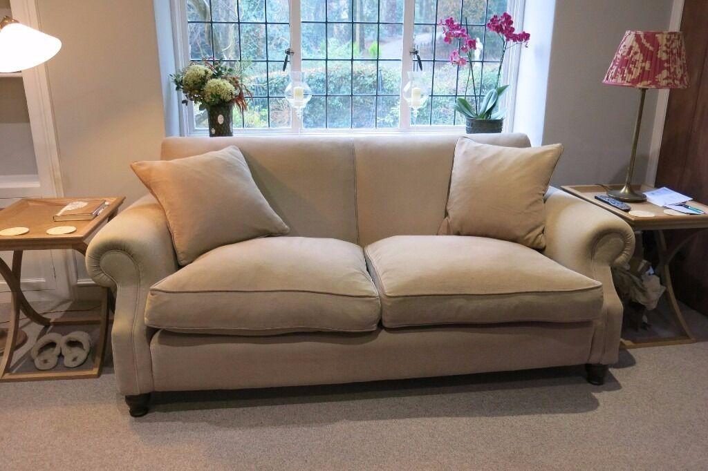 Two Large Matching John Sankey Tolstoy Sofas Setteeatching Ter Cushions