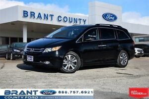 2015 Honda Odyssey Touring - LEATHER, NAV, ROOF, REAR DVD, VACUU