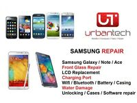 Samsung Galaxy S3/S4/S5 NOTE 2/3/4 Cracked Glass Screen Repair Service - FROM £24.99