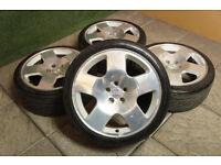 "Genuine Audi TT Competition 17"" Alloy wheels 5x100 Comps Golf MK4 Polo Ibiza Fabia A3"
