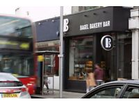 Bagel Bar & Cafe in Chelsea is looking for a sales person to join our waiting team