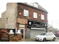 163 Walton Hall Avenue, Norris Green. 3 bed apt above retail premises with GCH &DG. LHA welcome