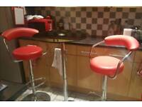 Breakfast table with bar stools