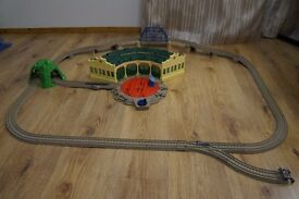 Thomas Trackmaster at Tidmouth Sheds with Turntable