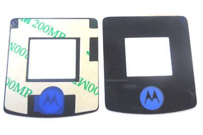 Motorola V3i LCD Display Aussenglas Glas Lens Screen Front Scheibe inkl Kleber Motorola Screen 3
