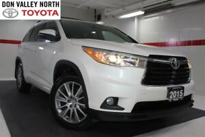 2015 Toyota Highlander XLE AWD Sunroof Nav Heated Seats BU Cam