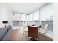 BRAND NEW 2 BEDROOM WITH BALCONY, FURNISHED IN GREENWICH PENINSULA, PLATINUM RIVERSIDE, GREENWICH