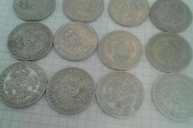 Coins pre 1947 silver high grade