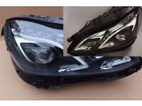 Car part: New OEM left hand drive Bi-xenon ILS headlights Mercedes E Class W212 2010 -2016