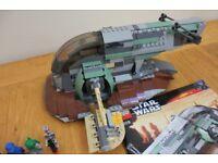 LEGO Star Wars 6209 - Slave 1 including minifigures & instructions!