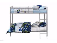 BRAND NEW Single Metal Bunk Bed In Silver White And Black Colour Single Bottom Single Top