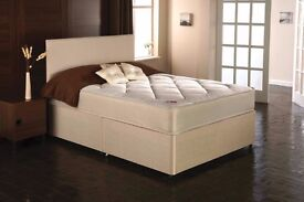 SUPER ORTHOPAEDIC DIVAN BED - DOUBLE 4FT 6 or SMALL DOUBLE 4FT - BRAND NEW - MADE IN UK - FREE DROP