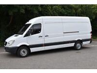 Van hire removal service van with man del