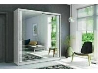 😍👌BRAND NEW FULL MIRRORED SLIDING WARDROBES WITH 2 AND 3 DOORS, ALL SHELVES AND RAILS INCLUDED😍