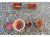 Collection of Earthenware Flowerpots
