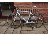 Trek 1.5 road bike, Shimano 105 brakes and gearing, new tyres, aluminium frame, carbon front forks.
